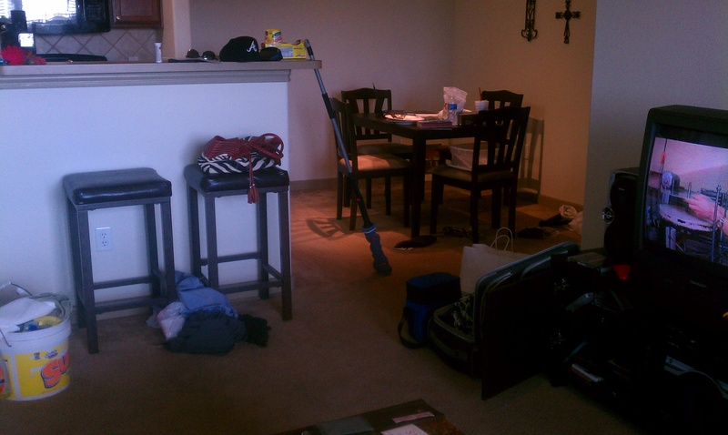 Dining area before